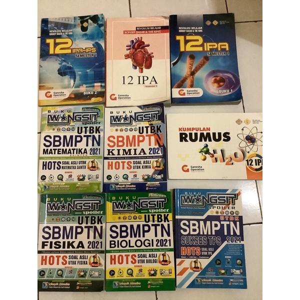 Preloved Buku Persiapan UTBK SBMPTN Wangsit Platinum Koding GO Ganesha Operation Kelas 12 2021 2022