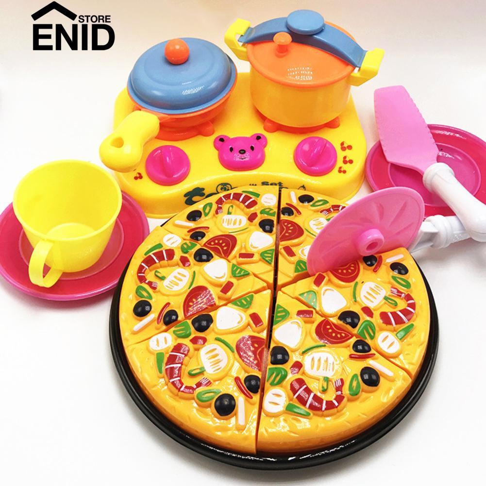 Enenstore 6 9pcs Set Mainan Masak Masakan Potong Pizza Bahan Plastik Untuk Anak 3 Tahun Shopee Indonesia