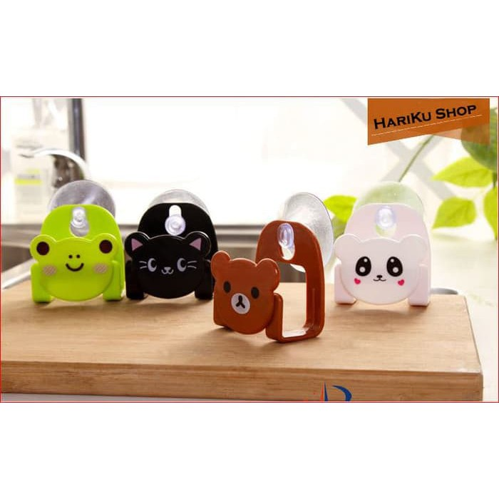 Gantungan Spons Kartun + Pengait / Vacuum Kitchen Sponge Holder- X375 | Shopee Indonesia