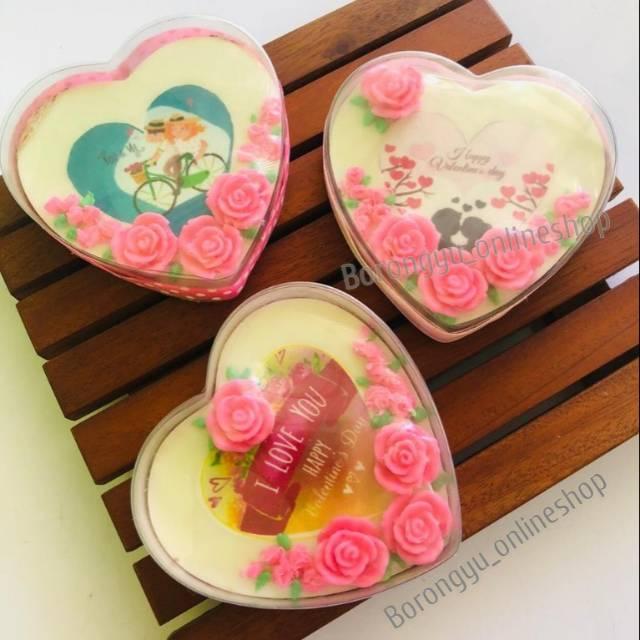 Coklat Hadiah Souvenir Valentine Day Dengan Tulisan Atau Gambar Bentuk Hati Shopee Indonesia