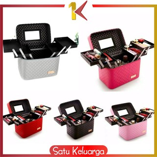 SK-K1 BOX MAKE UP/Kotak Kosmetik/Beauty Case/Tas Kosmetik/Make Up Case/ WATERPROOF/Koper Makeup