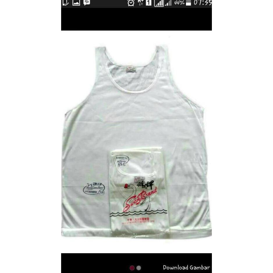 harga BEST SELLER Kaos Dalam Singlet Swan Brand Pria Size 34 36 38 40 42 Shopee.co.id