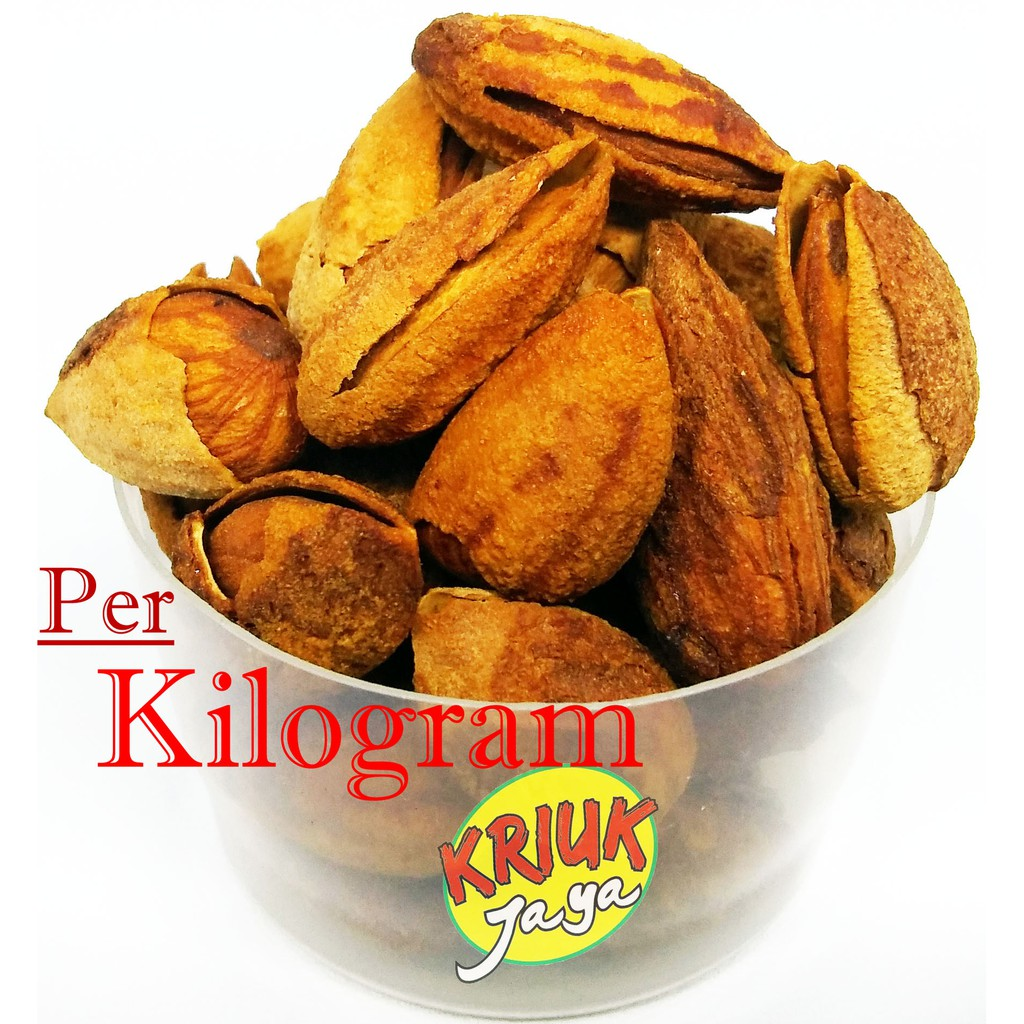 Kacang Almond Kulit Kualitas Super In Shell Kiloan Natural Meal Flour Tepung 500 Gr Curah Shopee Indonesia