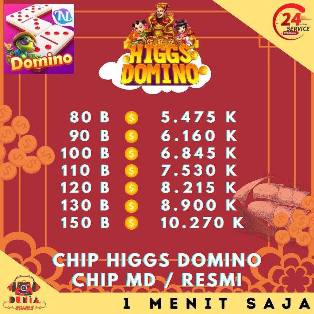 Higgs Domino Island - Chip MD Resmi Ungu - Koin Coin Domino Hoki - Chip Higgs Domino Murah