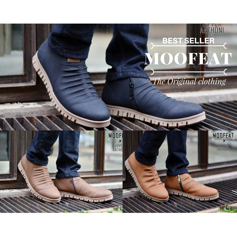 Belanja Online Boots Sepatu Pria Shopee Indonesia Moofeat Lunnar Tan