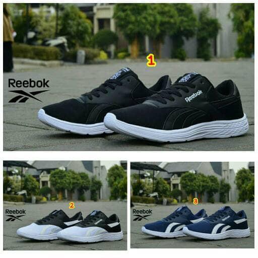 Sepatu reebok classic putih hitam navy terbaru 2017 murah fullblack ... d1bd52398b