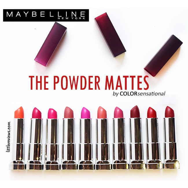 ORIGINAL MAYBELLINE The Powder Matte by Color Sensational Lipstick Part I thumbnail