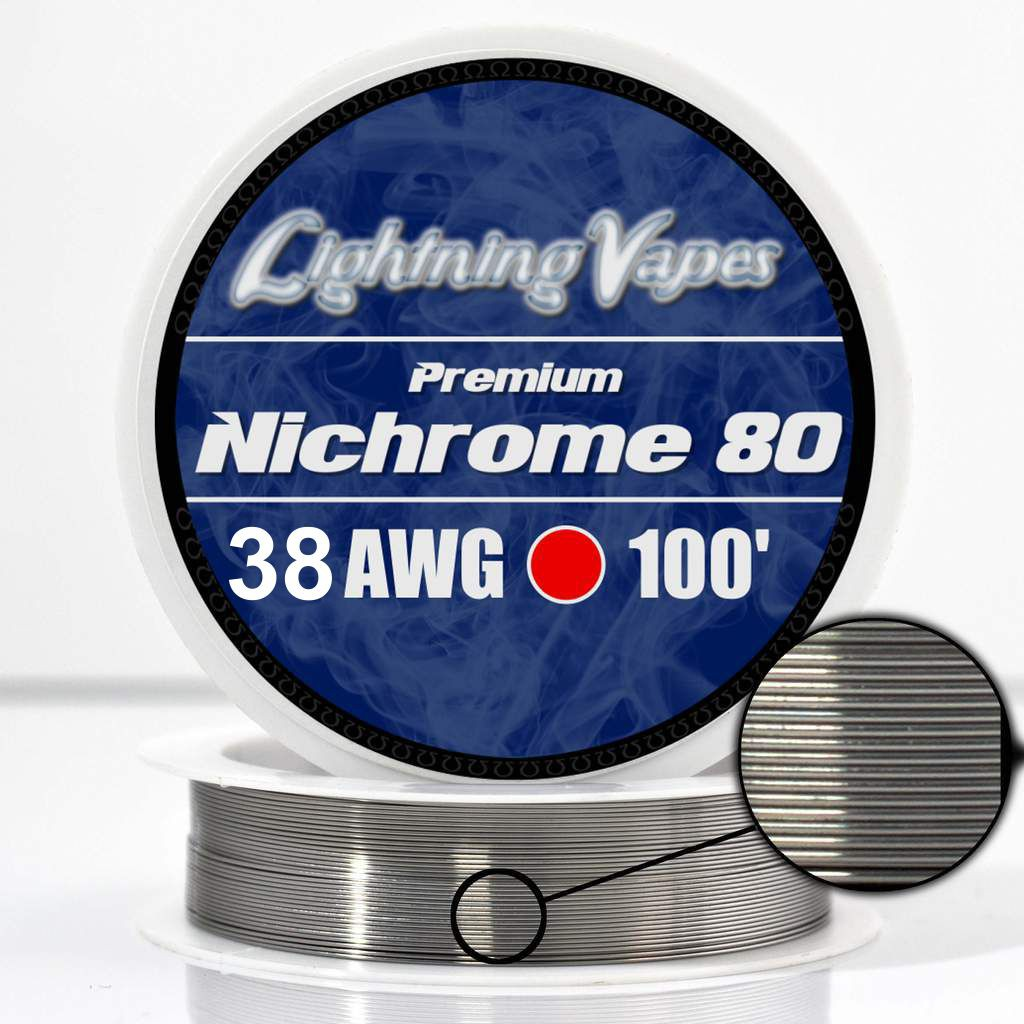 Ni80 wire 38 Gauge AWG Nichrome 80 Resistance Wire 250' Length 250ft