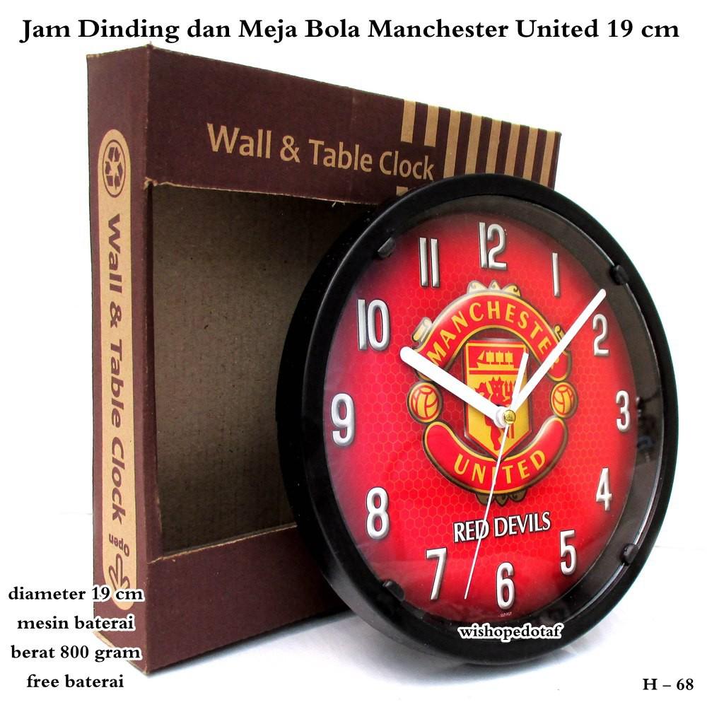 Jam dinding dan jam meja club bola 19 cm - AC MILAN  8b8a0e5eca