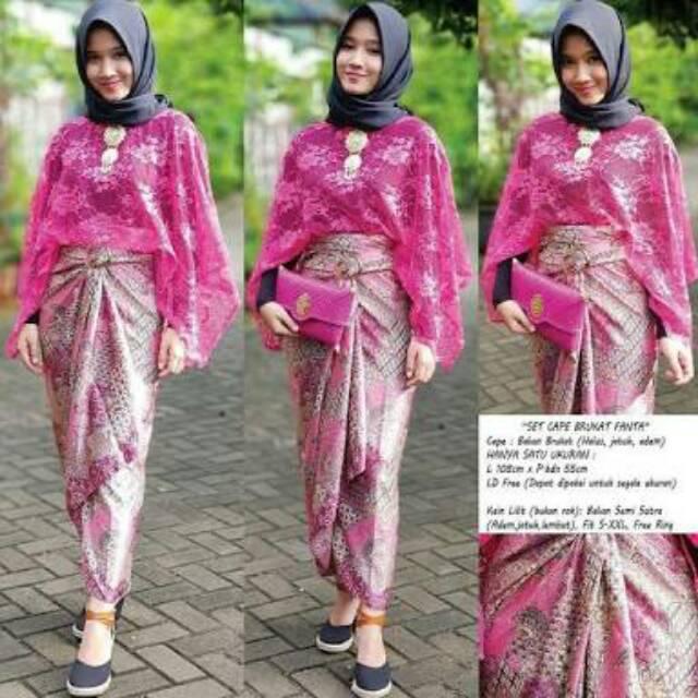Blouse Lowo Croptee Brukat Atasan Kebaya Kelelawar Lace Brokat Seragam Bridesmaids Shopee Indonesia