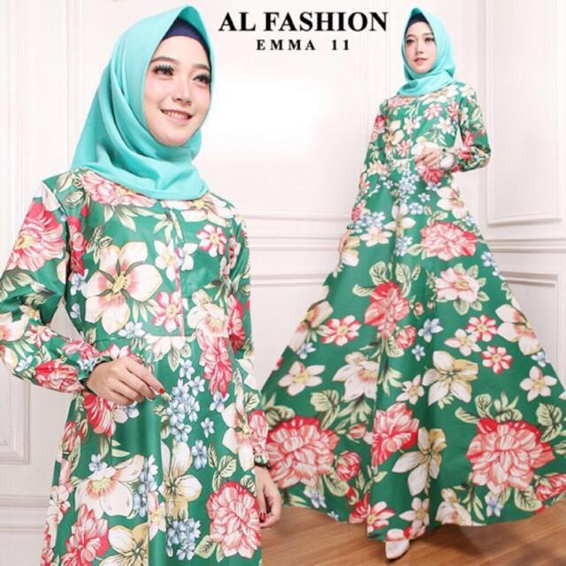 AB ( PROMO HOT SHOPE ) - maxi emma gamis syari busana muslim wanita jumbo casual dress ( maxi aja ) | Shopee Indonesia