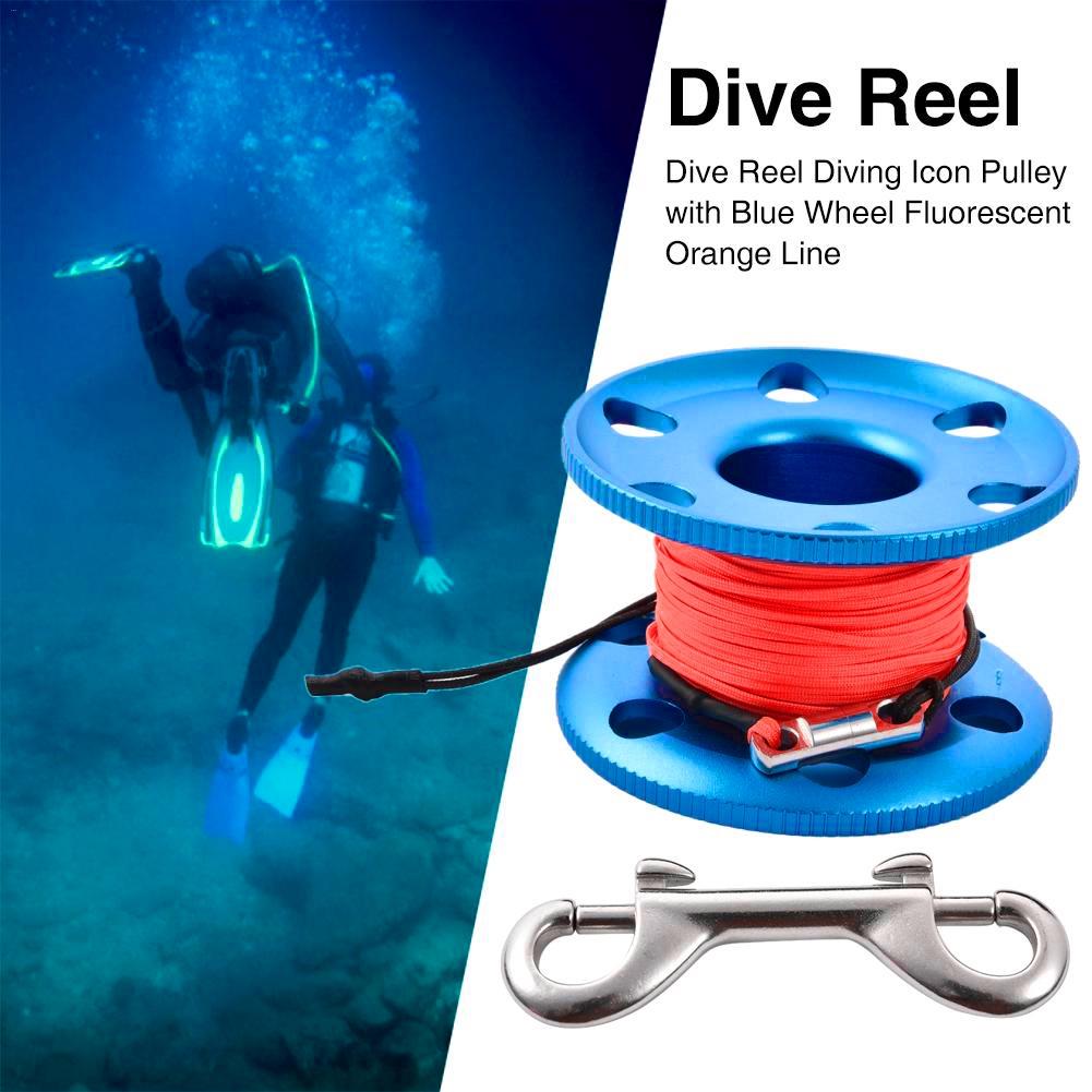 Diving Finger Spool Reel 20m Line Underwater Scuba Cave Dive Gear Equipment