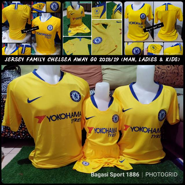 4642472e5 Jual Jersey Baju Bola Chelsea The Blues Pasangan Family Keluarga GO Home  2018 2019 Man Ladies Kids