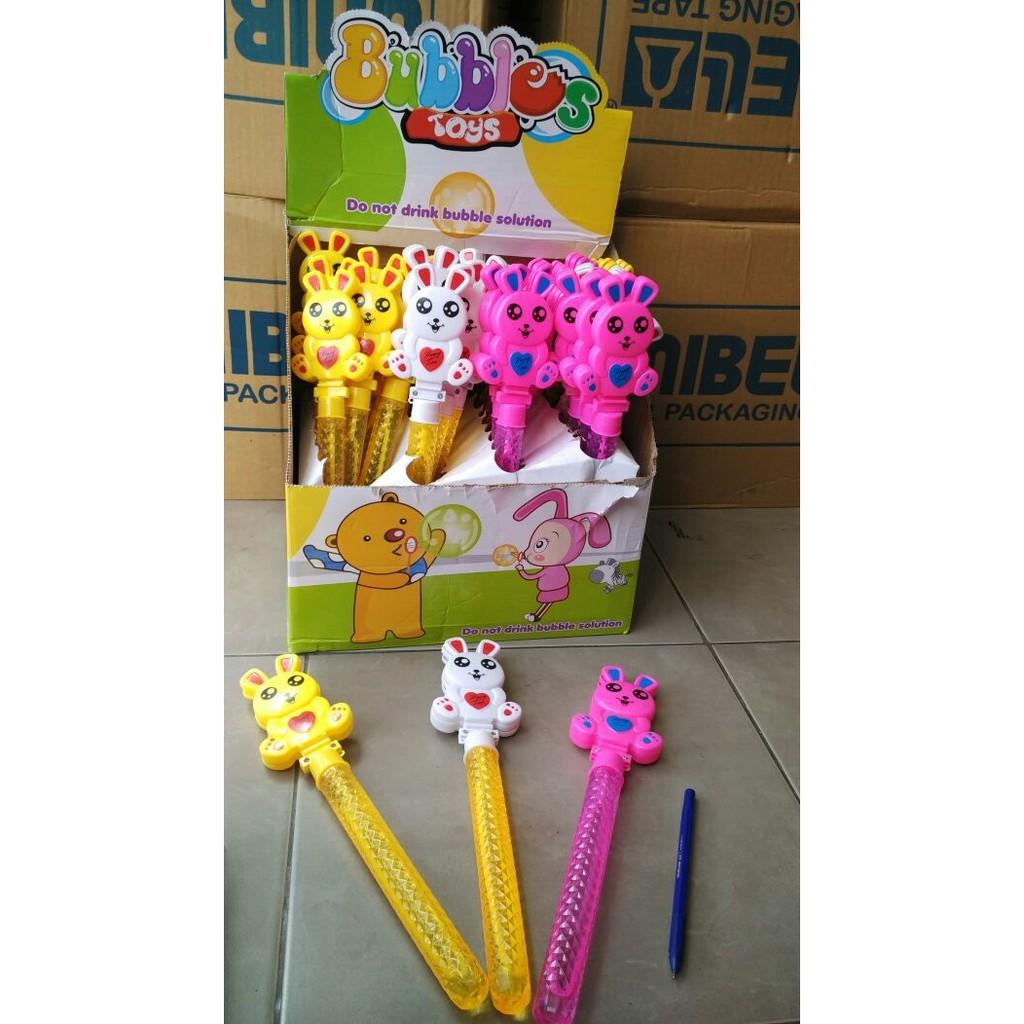 Mainan Buble Bubble Sabun Stick Hello Kitty Gelembung Tiup Balon Busa Gun Terlaris Shopee Indonesia