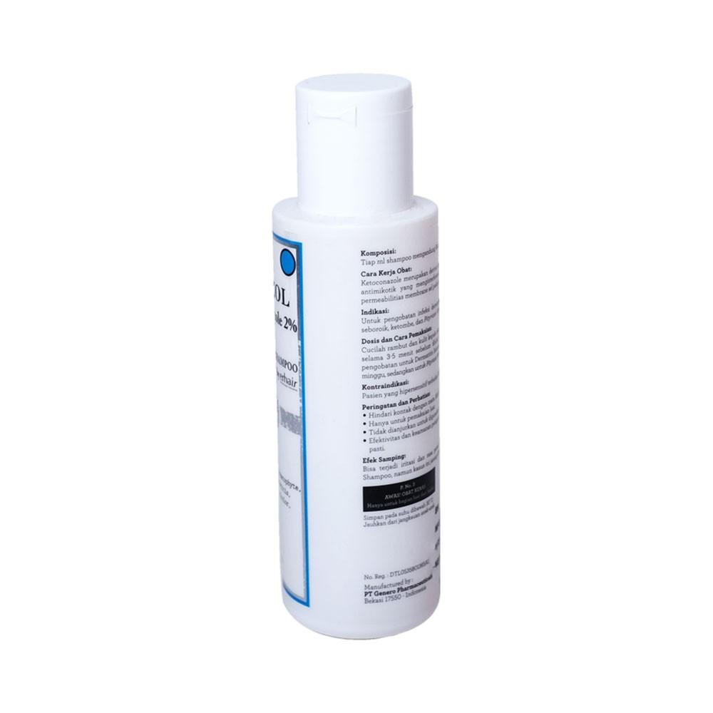 ERHA Erazol Shampoo 100 ml - Sampoo Khusus Infeksi Jamur Kulit Kepala-2