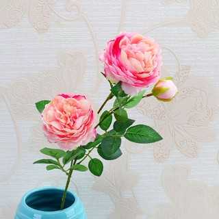 65cm Rose Peony Artificial Flowers Bouquet 3 Big Head And 32cm 5head Cheap Fake Flowdding Decoration Shopee Indonesia