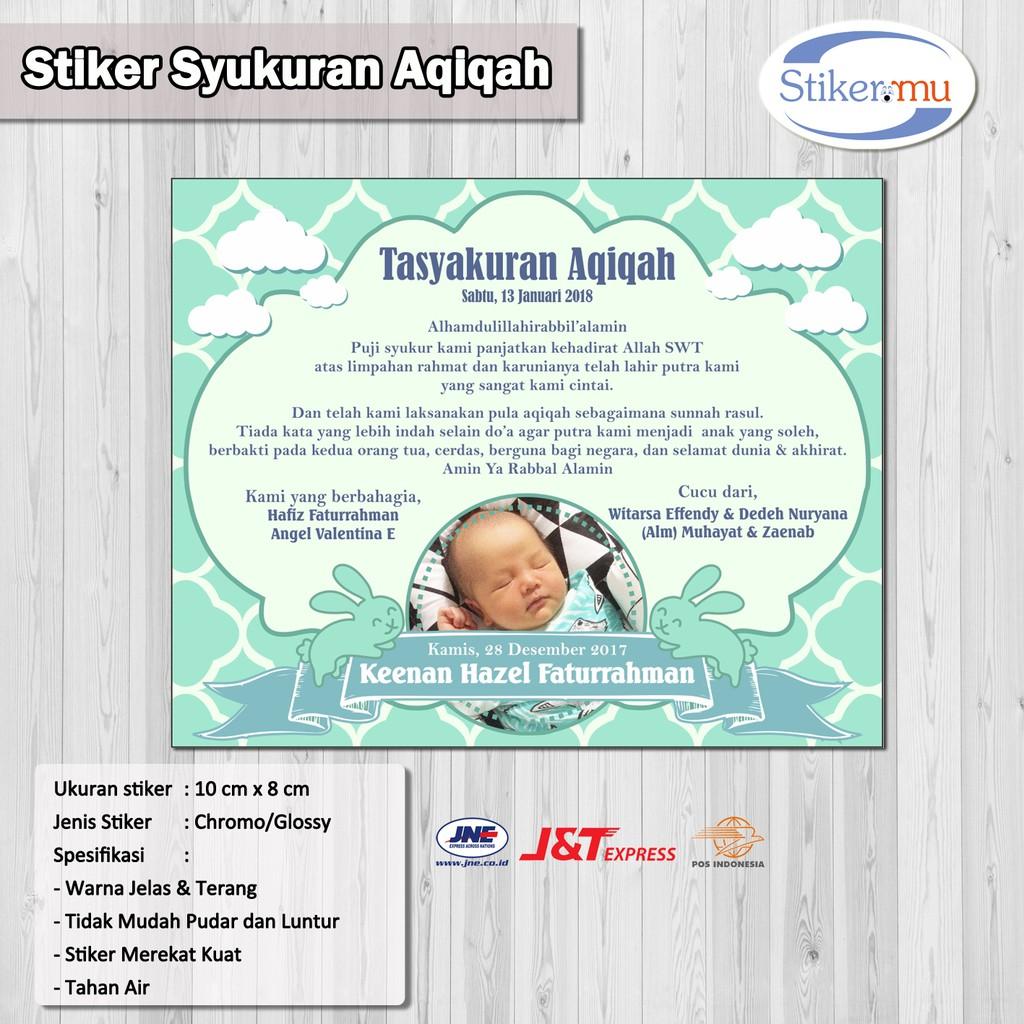 Stiker label aqiqah shopee indonesia