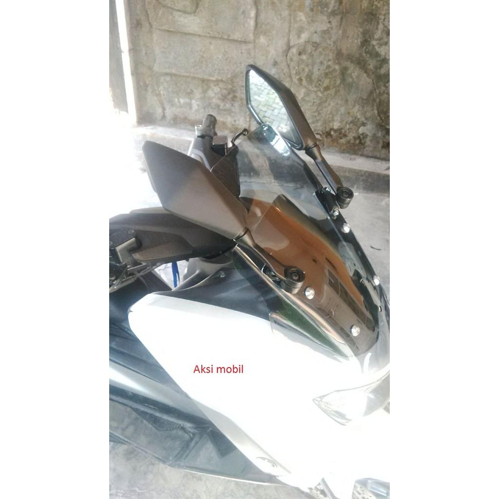 Spion Yamaha Nmax N Max Model Lipat Ninja 250fi Termurah Shopee Tomok 2 Kombinasi Plastik Cnc Universal R15 R25 Mt25 Xabre Indonesia