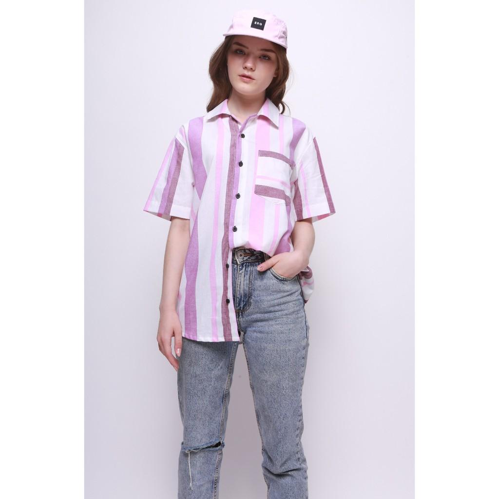 Erigo Shirt Torvald Salur Navy Unisex Shopee Indonesia Hawaii Svetlana White Putih S