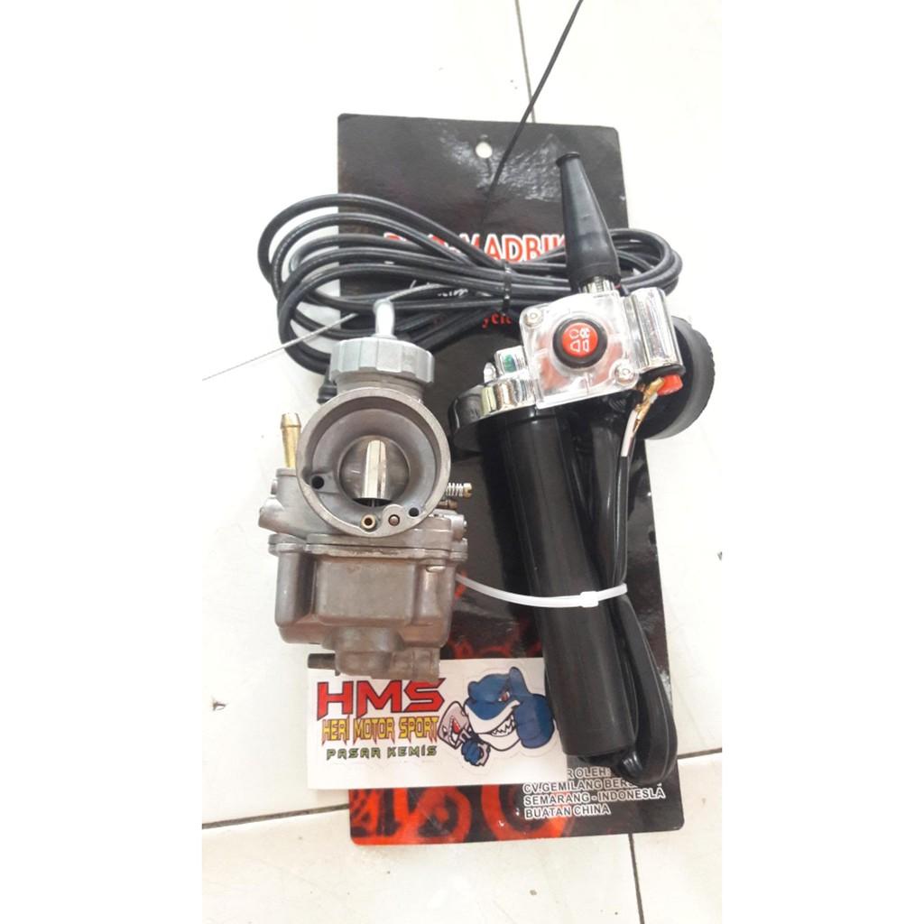 Paket Karburator Keihin Pe 24 Gas Spontan Matic Honda Beat Vario Bungbon Polos Yamaha Mio Dll Variasi Racing Shopee Indonesia