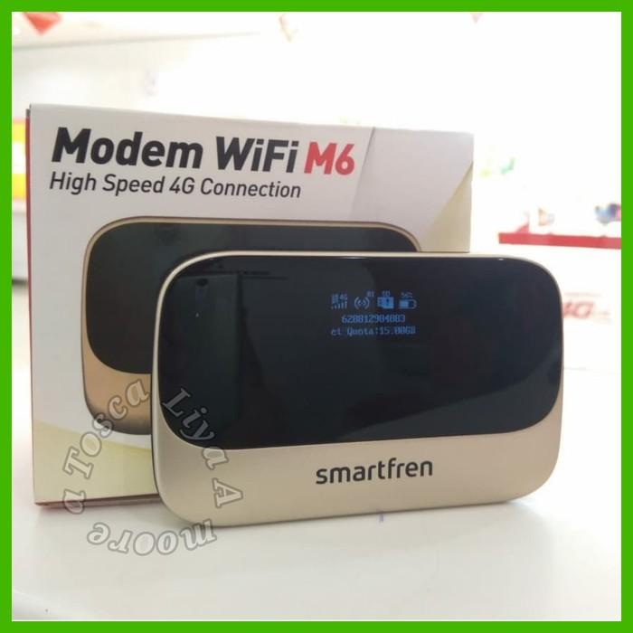 Unik MiFi Router Modem WiFi 4G Smartfren Andromax M6 - FREE KUOTA 2GB 7HARI  Berkualitas