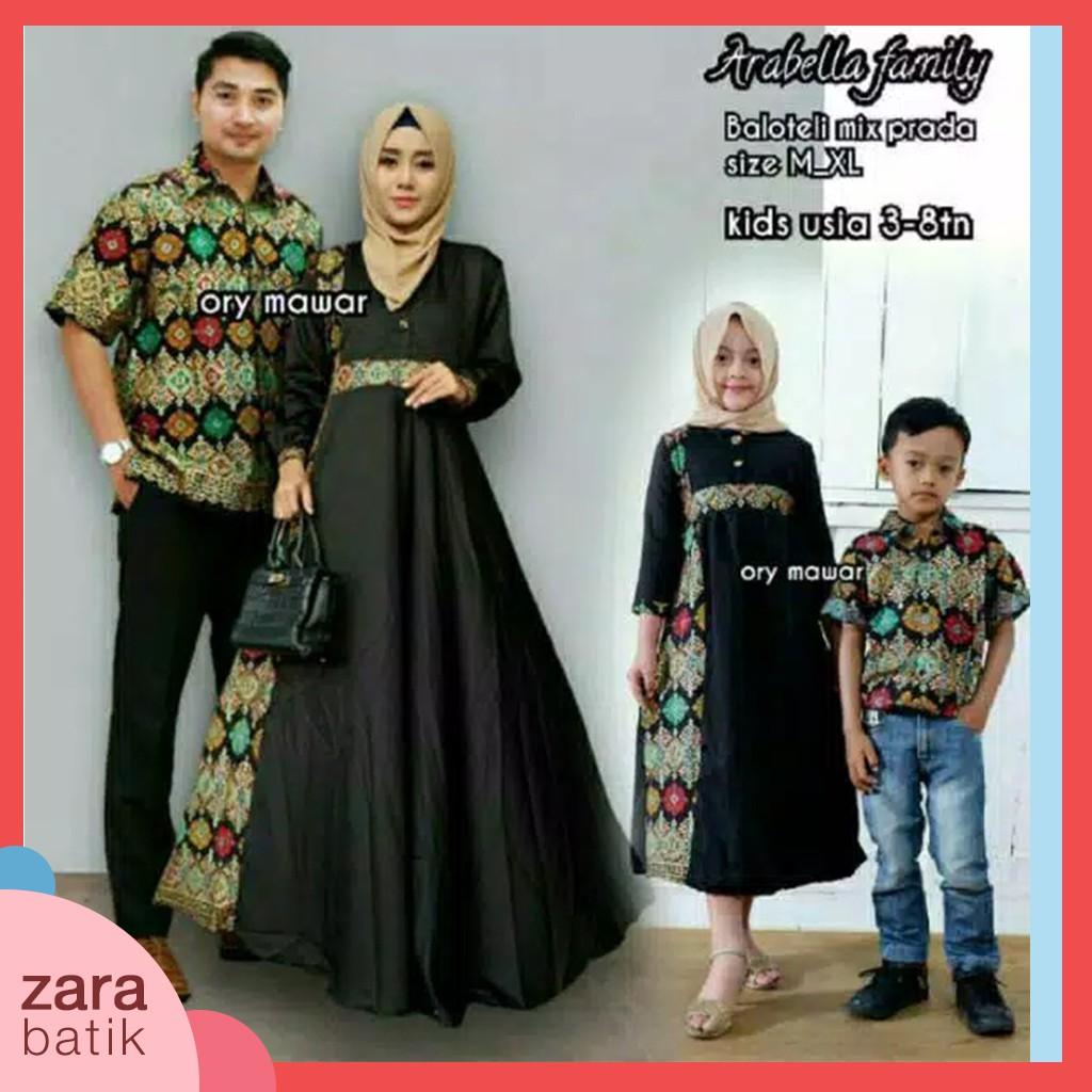 SHOPASHOP SOLO - Baju Batik Couple Keluarga Termurah - Arabella Family set  - Bisa beli satuan  b2ab0bd7db