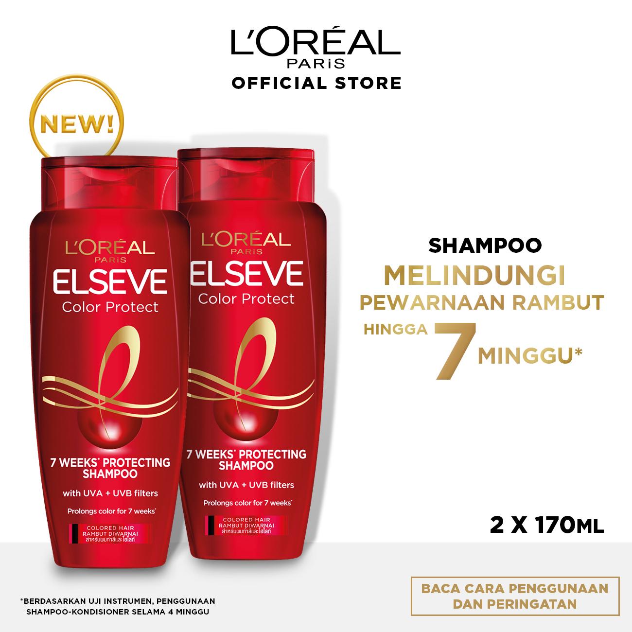 L'Oreal Paris Elseve Color Vive Protecting Shampoo Hair Care 170mlx 2Pcs[Perawatan Rambut Berwarna]