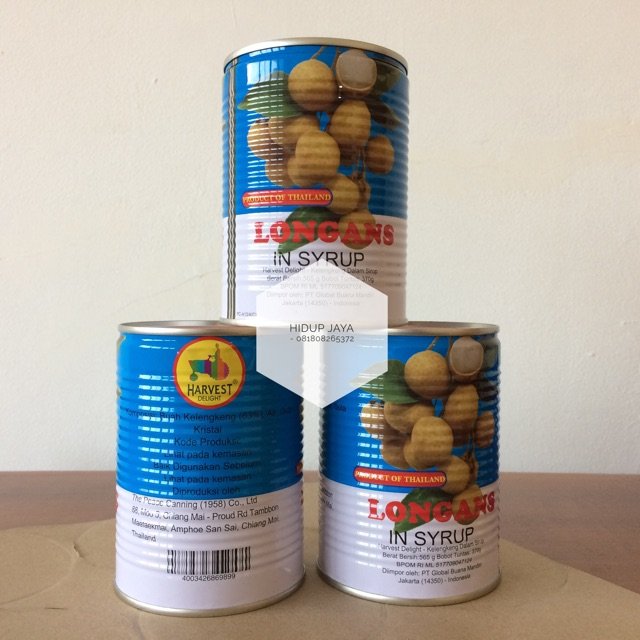 HARVEST DELIGHT Longan / Kelengkeng in Syrup Kaleng 565 Gr | Shopee Indonesia