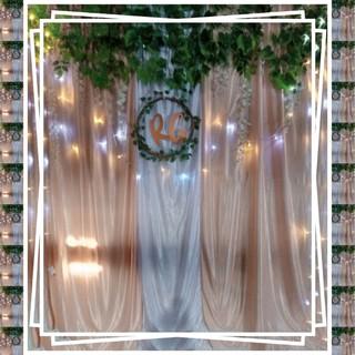 paket dekorasi backdrop photobooth akad /photobooth