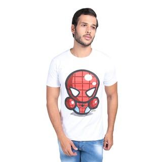 Vanwin - Kaos T-Shirt Distro Spiderman Karikatur - Putih