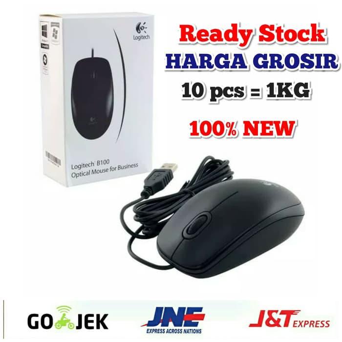 951335a12a1 Logitech B100 USB Mouse Optical | Shopee Indonesia