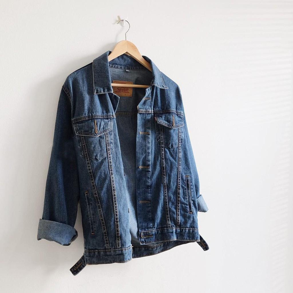 Jacket Levis Wanita Putih Jaket Pria Jeans Garment Denim Biowash Bioblitz Retro Casual Fashion Shopee Indonesia