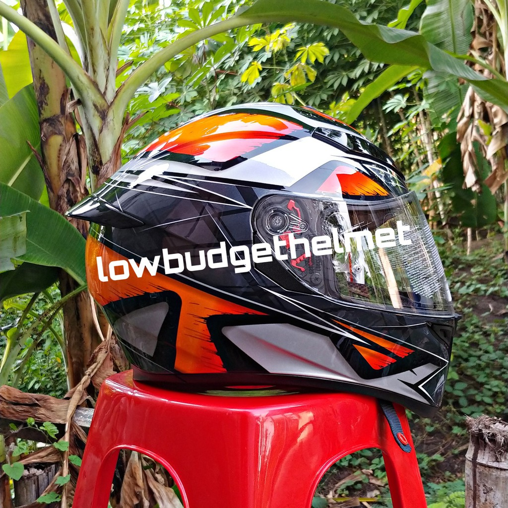 Helm Full Face Agv K3 Sv Multi Liquefy Black Orange Premium Original Agv Free Balaclava Maguno Shopee Indonesia