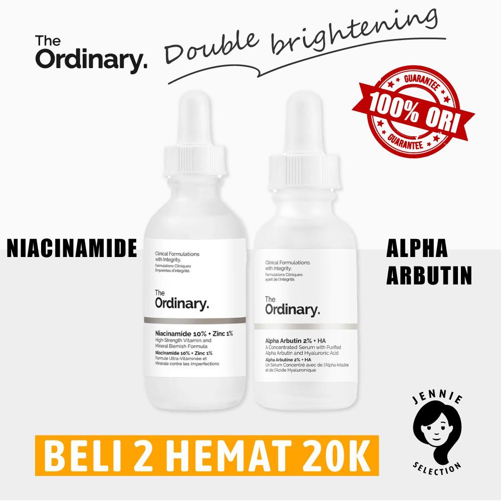 The Ordinary Niacinamide 10 Zinc 1 The Ordinary Alpha Arbutin 2 Ha Mencerahkan Shopee Indonesia