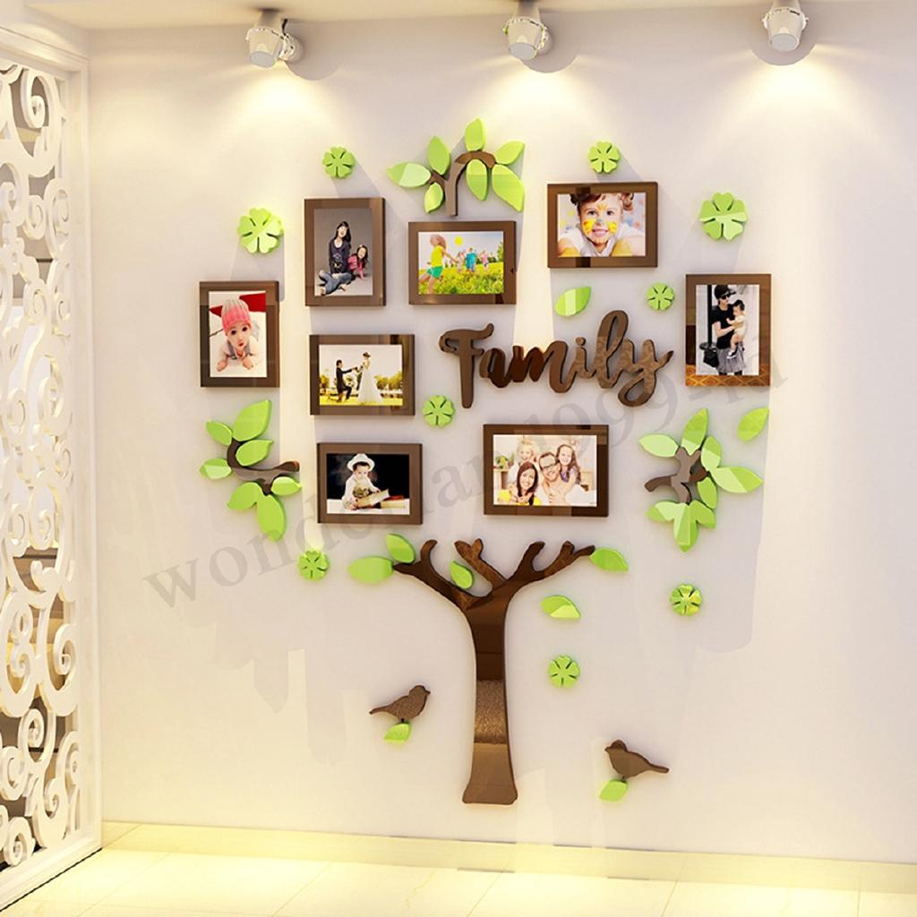 Stiker Dinding Gambar Pohon Keluarga 3D Untuk Dekorasi Kamar Tidur Rumah