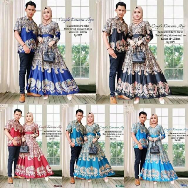 Baju Batik Couple Keluarga Syar I Princes Modern Muslim Anak