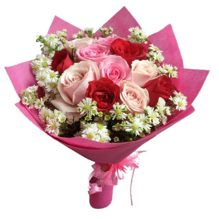 Bucket Bunga Kado Ulang Tahun Pacar Bunga Mawar Asli Bunga Wisuda Shopee Indonesia