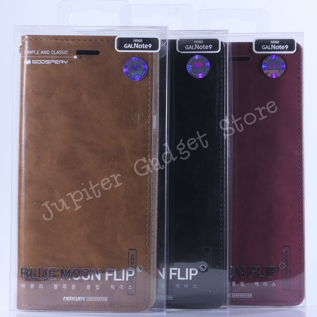 Samsung Galaxy Note 9 Mercury Blue Moon Flip Cover - Original | Shopee Indonesia