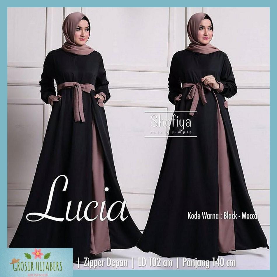Baju Murah Wanita Gamis Maxi Lucia Dress Pesta Jumbo Syari Muslim Termurah | Shopee Indonesia