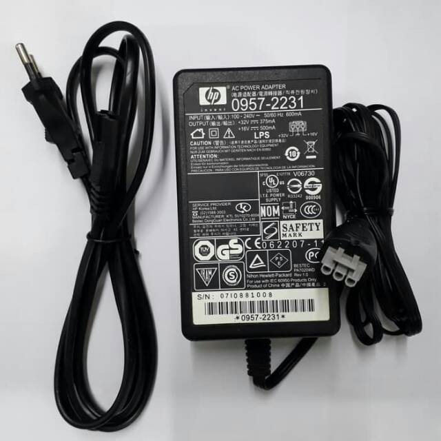 HP Photosmart All-in-One C4272 C4275 printer power cord cable ac adapter charger