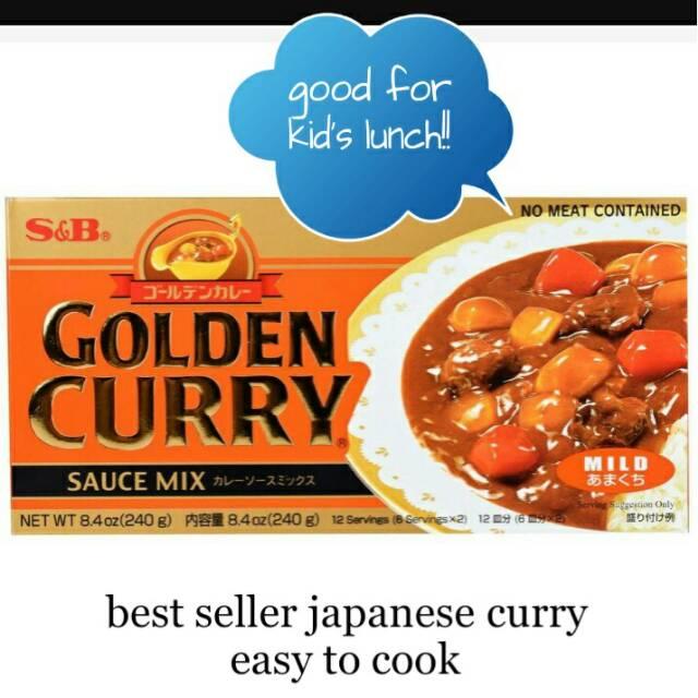 Golden Curry S&B 100gr HOT MILD MEDIUM Saus Kari Jepang Japanese Curry Bumbu Kari Ala Jepang