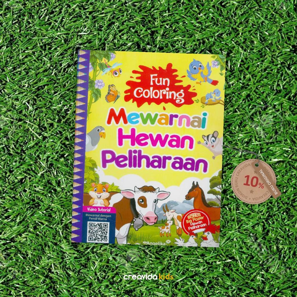 Buku Mewarnai Fun Coloring Mewarnai Hewan Peliharaan