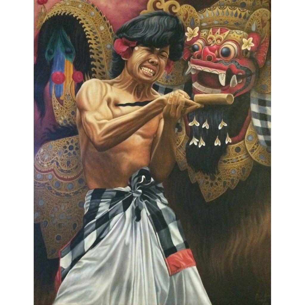Lukisan Tarian Kris Bali BALI PAINTING Elektronik