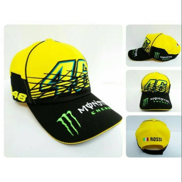 Topi Distro MotoGP Yamaha Movistar Valentino Rossi VR46 Hitam Abu TP46-HA17   6405cb569f