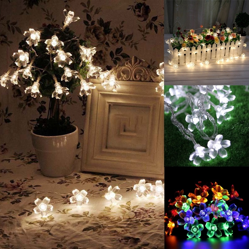 1 2m Led Plum Blossom Shaped Light String Party Accessories Home Decor Shopee Indonesia