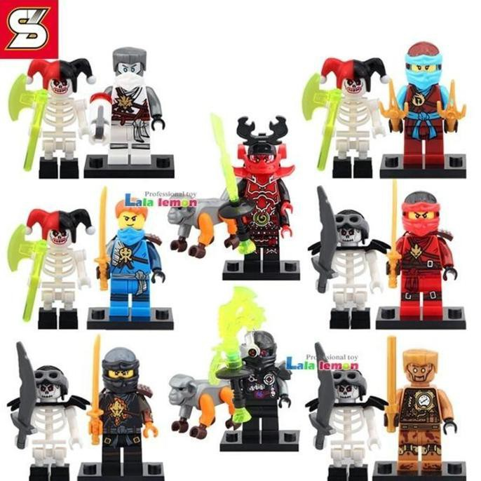 Salee !!! Lego Ninja Minifigures Phantom Jay Kai Cole Zane Wu Sy Figure  Ninjago Murah Ready Stock