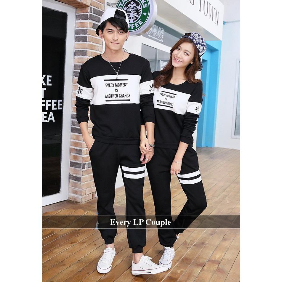 Sweater Couple Simple Lengan Panjang Bagus Every Lp Shopee 098 Baju Keluarga Indonesia