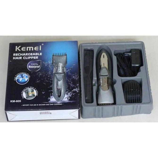 Alat Cukur Rambut KEMEI KM - 605 Washable Hair Clipper  75f5624f3b