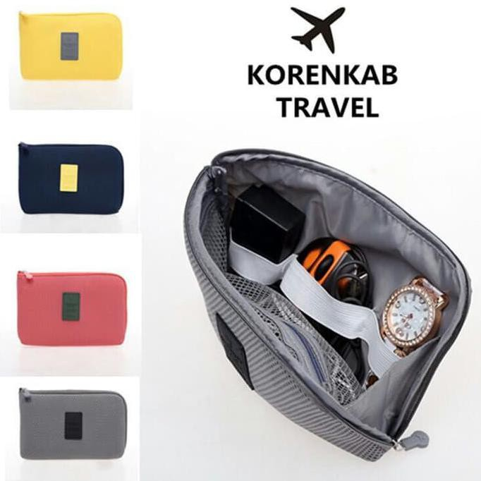 Dompet Kabel Travel / Travel Cable Pouch Korea Style Size Small | Shopee Indonesia