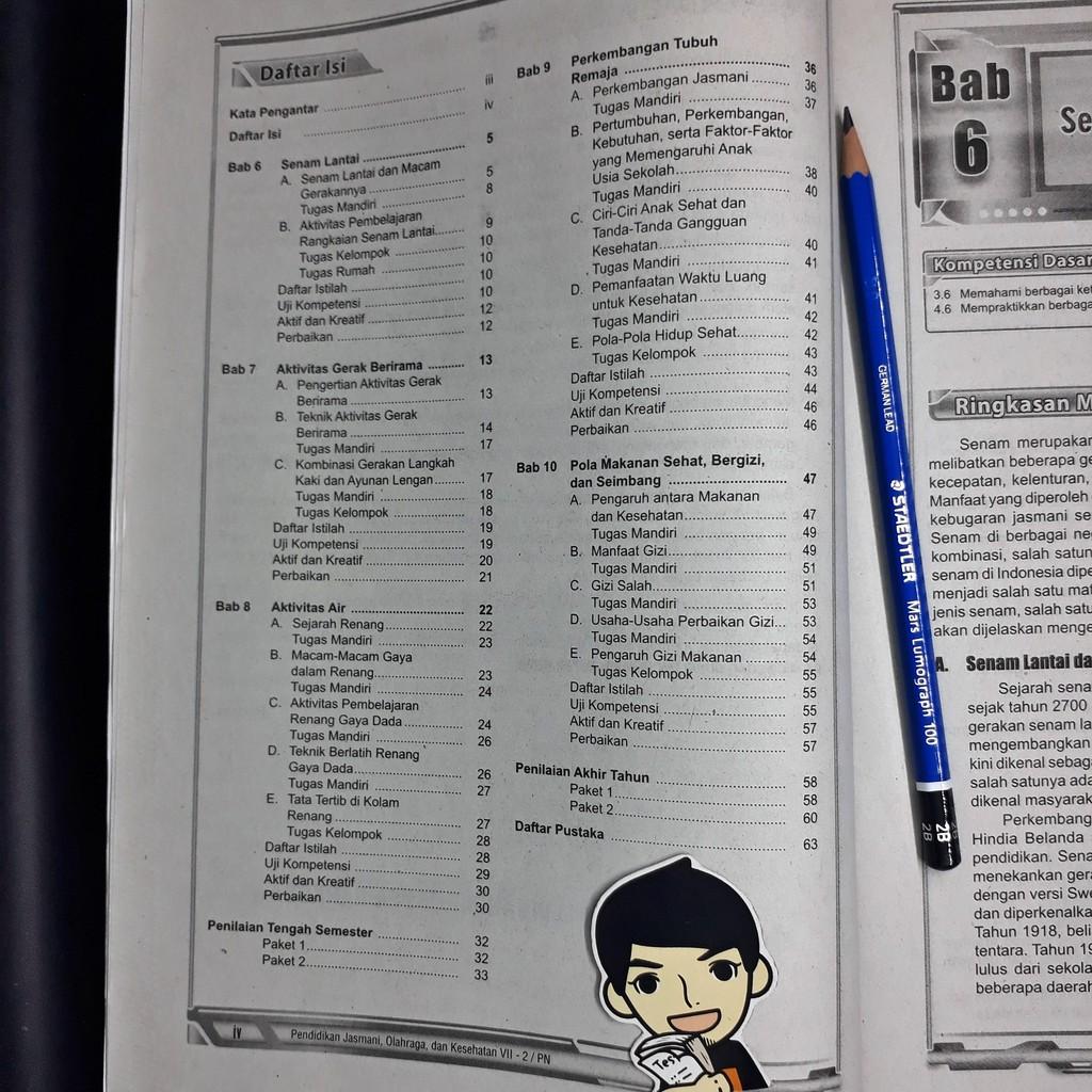 Lks Pendidikan Jasmani Olahraga Dan Kesehatan Penjas Smp Mts Kelas Vii 7 Semester 2 Zamrud Shopee Indonesia
